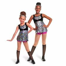 Dance Costume Large Child Sequin Metallic 2 pc Duet Competition Pageant Glitz