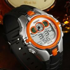 OHSEN New Digital Boys Kids Sport waterproof LED back light 3ATM wristwatch