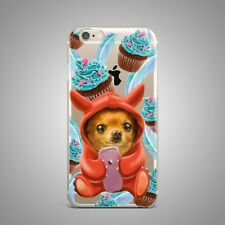 Cute Puppy Dog Sweet Design TPU Silicone Rubber Clear Case Cover for iPhone