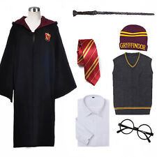 Adult Harry Potter Cosplay Costume Magic Cloak Gryffindor Halloween Fancy Dress