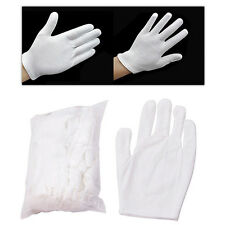 12 Pairs White Inspection Cotton Work Gloves Coin Jewelry Worker Glove Natural