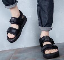Mens Open Toe Mixed Color Casual flat Buckle Sports Roman stylish Summer Sandals