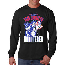 Star Spangled Hammered America United States USA Patriotic Long Sleeve T-Shirt