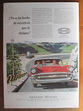 CHEVROLET 1957 AD  FROM A MAGAZINE IN SPANISH