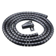 2Metre 10/16/22/32mm TV Computer Cable Wire Cord Tidy Organizer Home Office Tidy