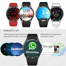 Android 4GB Bluetooth 3G Smart Watch Heart Rate GPS Phone Mate WIFI For iOS LG