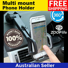 Multi mount Phone Stand Suction Cup Car Air Vent Holder Bracket