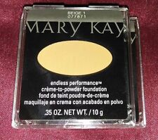 Lot of 2 Mary Kay creme to powder foundation endless performance new line!