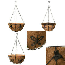 Metal Hanging Basket Deluxe Hanging Basket With Coco Liner 30cm