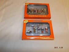 LIONEL O GAUGE  METAL LIONELVILLE PEOPLE PACKS (2)  IN PEWTER NEW IN BOX