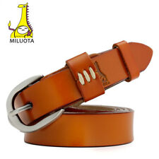 Genuine Leather Thin Belts For Women Dress Vintage Style Strap Candy Color Woman