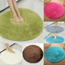 Round Fluffy Rugs Anti-Skid Shaggy Area Rug Room Home Bedroom Carpet Floor Mat