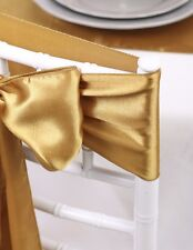 """10pcs Pack - 6""""x108"""" Satin Chair Sashes Or 12""""x108"""" Table Runner Wedding Decor"""