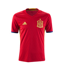 NEW Men ADIDAS Spain Espana Home Football Soccer Jersey Red MRSP $90