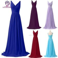2017 CHIFFON BRIDESMAID dress weeding MAXI LENGTH FORMAL PARTY PROM EVENING BALL