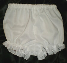 Toddler White Cotton Boutique Handmade Bloomers w/eyelet trim 2T-5T