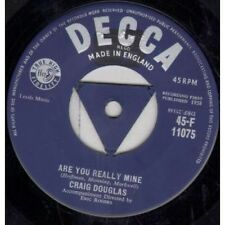 "CRAIG DOUGLAS Are You Really Mine 7"" VINYL UK Decca 1958 3 Pronged Centre Label"