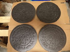 4 NEW ORLEANS WATER METER COVER CRESCENT CITY NOLA FRENCH QUARTER CAST IRON REAL