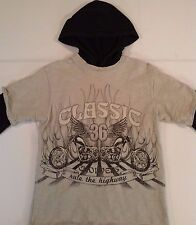 CHILDRENS PLACE Hoodie Pullover Shirt Boys LARGE (10/12) Motorcycle Gray EUC!!