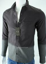 Armani Exchange A|X Mens Fitted Casual Ombre Button Front Shirt NWT $99