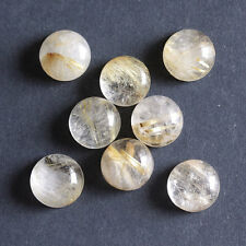 14MM Round Shape, Golden Rutile Calibrated Cabochons AG-225
