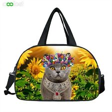 Lovely Cat Large Capacity Handbag Travel Bag Gym Duffle Sport Tote for Youth NEW
