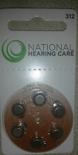 18 or 30 National Hearing Care Hearing Aid Batteries Type 312