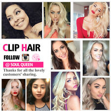 Brazilian Human Remy Hair Clip In Hair Extensions Body Weave Wave Weft  120g
