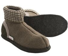 WESENJAK Boiled Wool Slippers KHAKI SAGE for Women and Men CHOOSE YOUR SIZE