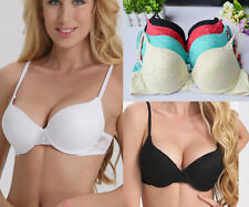Hot Women Lace Floral Push Up Bra Padded Underwire Underwear Brassiere New A-D