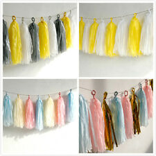 Tissue Paper Tassels Party Wedding Decor Garland Buntings Ballon Decor 5 Pcs/set