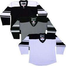Team Lot/Set of 10  LA KINGS  TRON Hockey Jerseys BLANK or With NAME & NUMBER