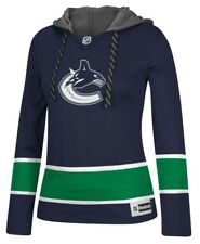 "Vancouver Canucks Women's NHL Reebok ""Crewdie"" Pullover Hooded Sweatshirt"