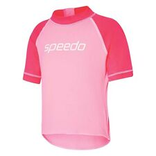 Speedo TODDLER GIRL'S LOGO SUN TOP High Cut Neck, Pink *Aust Brand - Size 6 Or 7