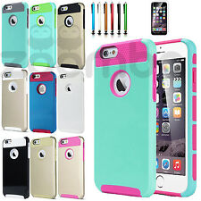Shockproof Rubber Hybrid Tough Armor Hard Case Slim Cover For Apple iPhone 6 6S