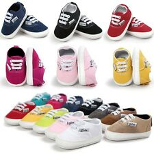 Infant Toddler Baby Girl Boy Soft Sole Crib Shoes Sneaker Newborn to 18 Months