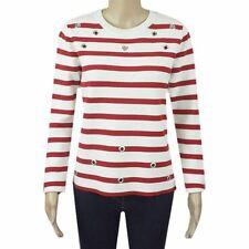 Ex Chainstore Stripe Jumper Striped Knitted Top Red White Knit 10 12 14 16 18