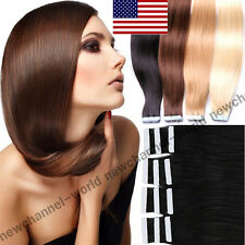 "16""-22"" Tape in 100% Virgin Real Human Hair Extension Remy Hair Extensions B103"