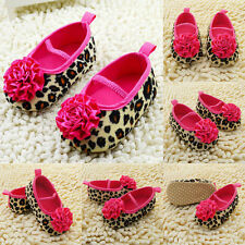 Infant Baby Girl Soft Soled Crib Shoes Floral Leopard Toddler Shoes 0-18Months