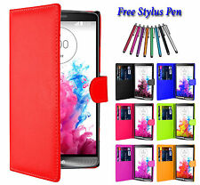 Magnetic PU Leather Book Flip Wallet Book ID Holder Pouch Case Cover For LG G6