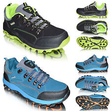 New Mens Hiking Walking Trail Low Top Lace Up Trekking Trainers Boots Shoes Size