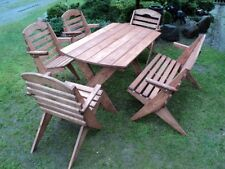 Solid wood garden furniture set