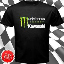 Monster Energy Kawasaki short sleeve T shirt Black