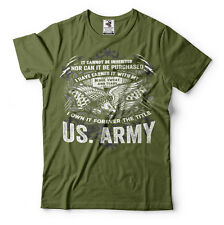 US Army T-shirt United States Soldier Army Tee Shirt Military Green Tee