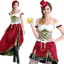 Sexy Ladies Beer Maid Wench German Heidi Oktoberfest Fancy Dress Party Costume