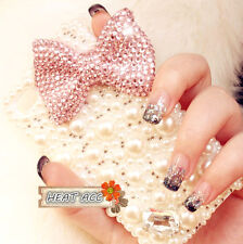 32#PEARL DIAMOND BOWKNOT Handmade Bling Crystal Pearl iPhone 5/5S/SE CASE COVER