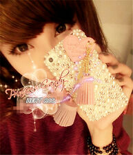 31#PEARL DIAMOND PRINCESS Handmade Bling Crystal Pearl iPhone 5/5S/SE CASE COVER