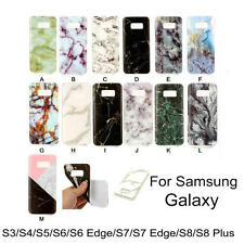 Fashion Marble Phone Soft TPU Cases Cover For Samsung Galaxy Series Accessory