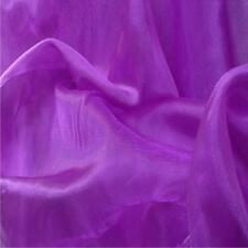 PURPLE Crystal Organza Voile Polyester Fabric material sold by the metre 150cm