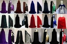 New Stock ! Velvet Hooded Cloak Coat Cape Shawl Halloween Wedding S-XXL